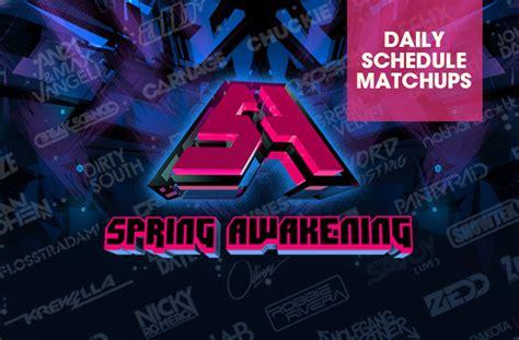 spring awakening schedule electronic midwest