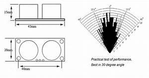 simple ultrasonic range finder using hc sr04 With sonic range finder schematic