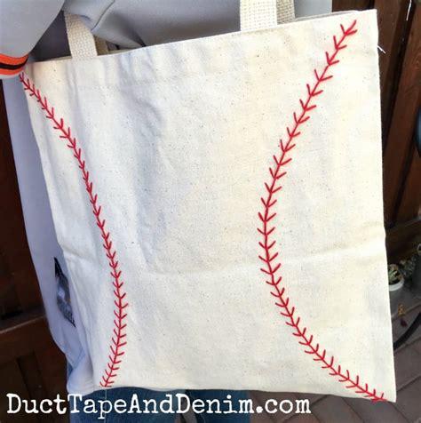 embroidered baseball bag  tote