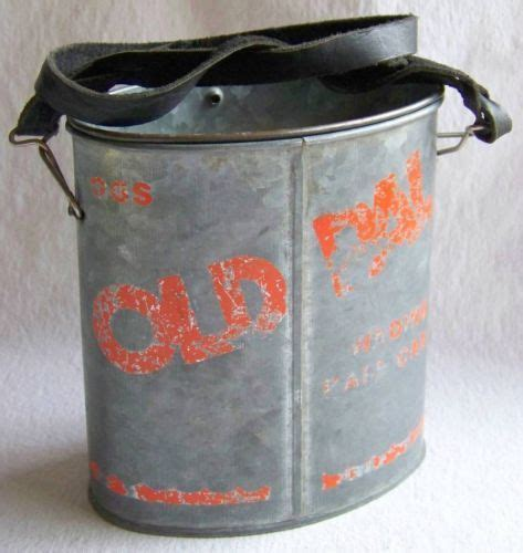 Vintage Old PAL Wading Bait Can Minnow Bucket Fishing