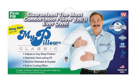 my pillow as seen on tv my pillow as seen on tv king size firm fill pillow foam