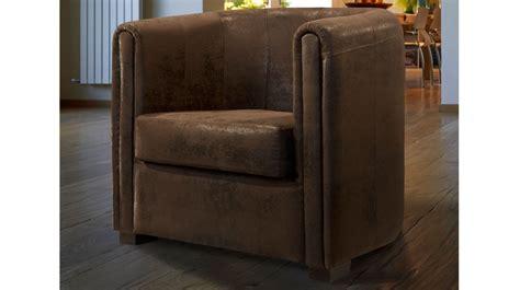canapé convertible moins cher fauteuil cabriolet microfibre aspect cuir vieilli