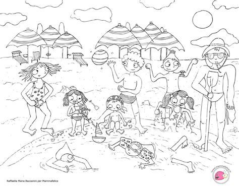 disegni bimbi al mare da colorare disegno da colorare bambini al mare disegni mammafelice