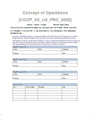 concept  operations template  ms word sample templates