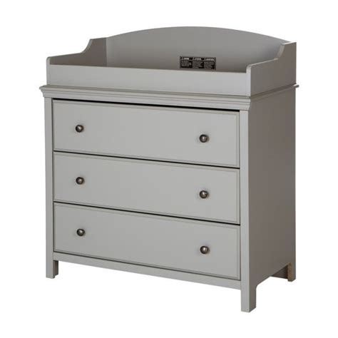 south shore changing table south shore cotton candy changing table in gray 9020330