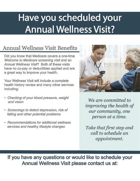 annual wellness visit template medicare wellness preventive visit
