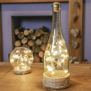 Flasche Mit Lichterkette : herbst weihnachtsdeko glas flasche mit kupferdraht led ~ Lizthompson.info Haus und Dekorationen