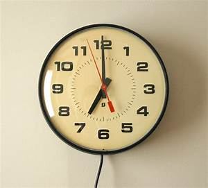 Vintage Industrial School Wall Clock Electric by Simplex