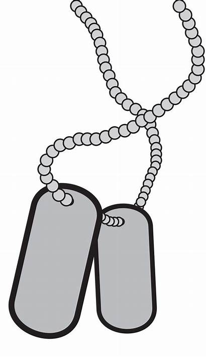 Dog Tag Military Clipart Clip Tags Vector