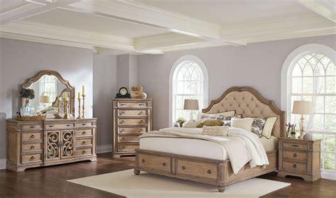 Ilana Antique Linen Panel Storage Bedroom Set From Coaster