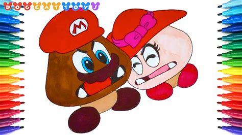 How To Draw Super Mario Odyssey, Goomba Couple #231