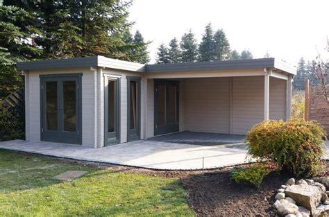 Flachdach Gartenhaus Modell Quinta44 Iso