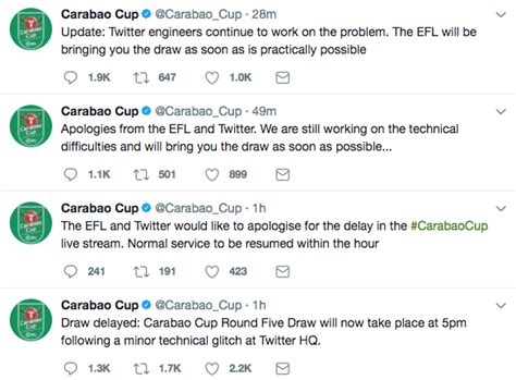 Carabao Cup draw: Sam Matterface issues update after 90 ...
