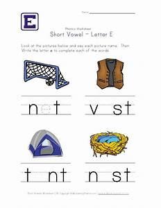 Short vowel e worksheet and other phonics worksheets ...
