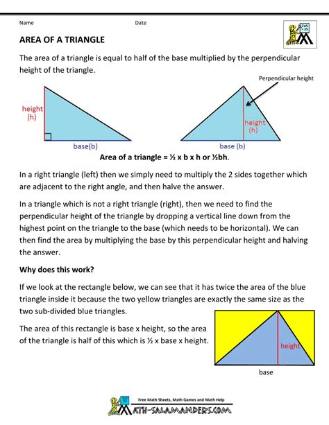 geometry formulas triangles  images geometry
