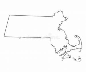 Massachusetts  Usa  Map Stock Illustration  Illustration