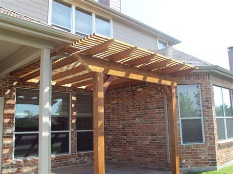 small arbor fills gap next to patio cover hundt patio