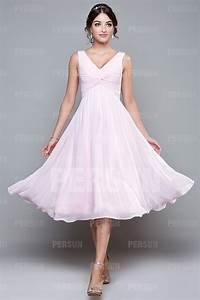 robe mi longue plissee col v en mousseline pour demoiselle With robe couturier pas cher