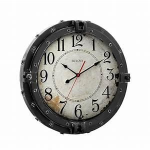 "Decorative Wall Clock - Navigator 17"" Bulova C4823"