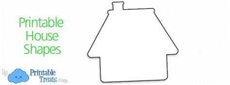Printable House Shapes