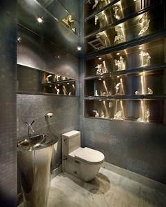 Idees de decoration inspirantes pour rendre nos toilettes for Kitchen cabinets lowes with papier peint originaux