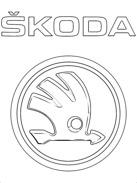 logo skoda kleurplaten gratis kleurplaten
