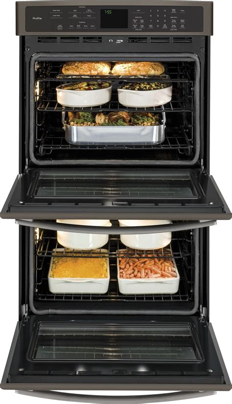 ptehes ge profile series  built  double wall oven  convection slate