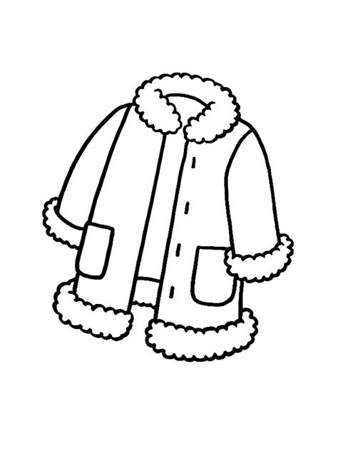 winter clothes coloring pages    print