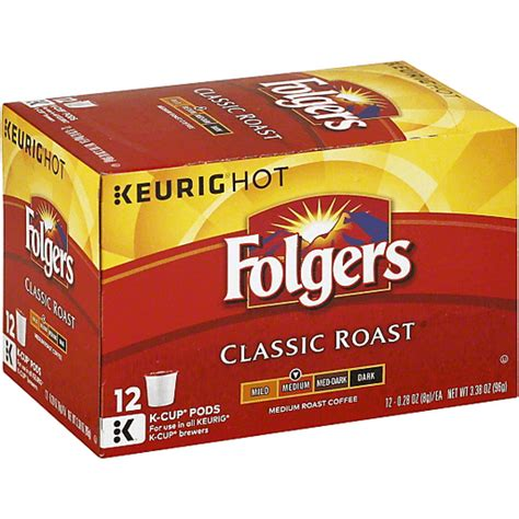 Experience a smooth and pleasant cup of coffee with no. Folgers Keurig Hot Coffee, Medium Roast, Classic Roast, K-Cup Pods | Single Serve, K-Cups & Pods ...