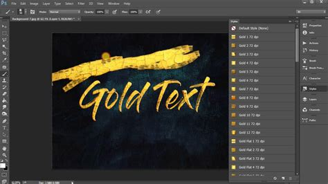 gold color photoshop metallic gold photoshop effects free