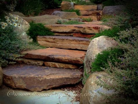 Rustic stone garden steps   Traditional   Landscape   new