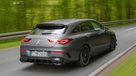 413 results for mercedes cla shooting brake amg. Mercedes-AMG CLA 45 Shooting Brake Debuts Its Shapely Long Roof Lines