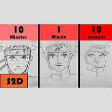Speed Challenge 10 Minutes1 Minute10 Seconds  Drawing Naruto Youtube