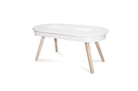 table basse blanche table basse ovale blanche relevable de design nordique