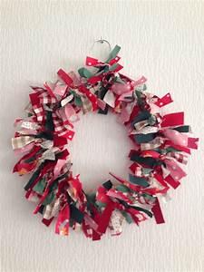 Tissu De Noel : diy la couronne de no l en tissus je fais moi m me ~ Preciouscoupons.com Idées de Décoration