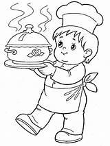 Coloring Cook Chief Coloriage Worksheets Printable Helpers Kuchar Enfant Sheets Mycoloring Drawings Malvorlagen Pompier Sequentielles Cuisine Salle Noel Classe Dessin sketch template