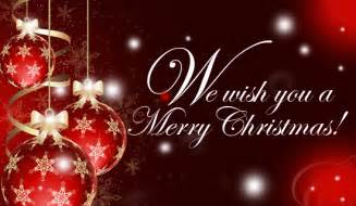 we wish you a merry
