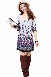 Robe Boheme Courte : robe courte cercles tunique boho boheme chic ~ Melissatoandfro.com Idées de Décoration
