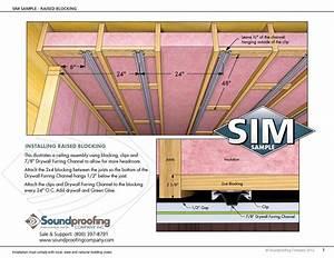 Soundproofing Installation Manuals  Sim