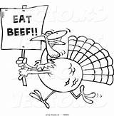 Turkey Thanksgiving Coloring Pages Funny Beef Cartoon Hunting Drawing Clip Turkeys Drawings Outline Eat Sign Vector Printable Bird Hunters Getdrawings sketch template