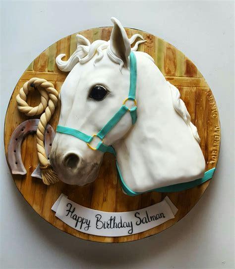 white horse head cake  rabarbar cakery cake art