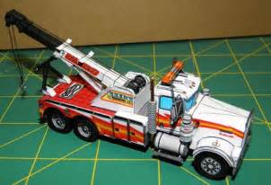 paper truck kenworth new paper craft kenworth w900 wrecker tow truck free