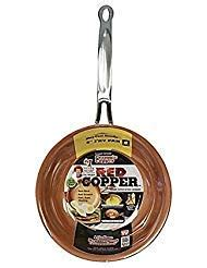 red copper cookware     square frying pan set