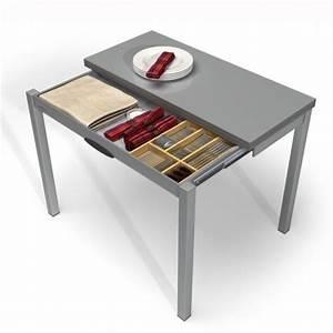 Table Cuisine Petit Espace : table de cuisine extensible en m lamin table petit espace delibro 1 cuisine pinterest ~ Teatrodelosmanantiales.com Idées de Décoration