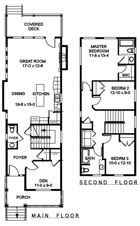 narrow floor plans plan no 505161 house plans by westhomeplanners com