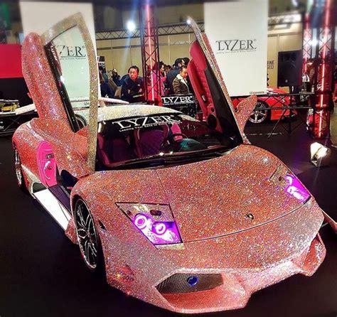 pink glitter car pink studded lambo pink nation pinterest