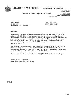 wisconsin tax exempt form fillable fillable online revenue wi notice of exempt computer