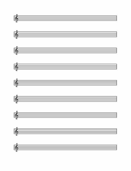 Big horizontal & vertical staff pages with & without clef symbols! Treble clef staff (9 per page)