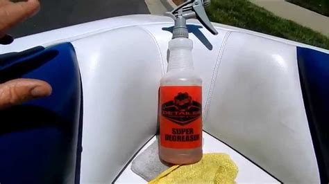 Boat Motor Cleaner by Boat Cleaning And Detailing How To Clean Vinyl Upholstery