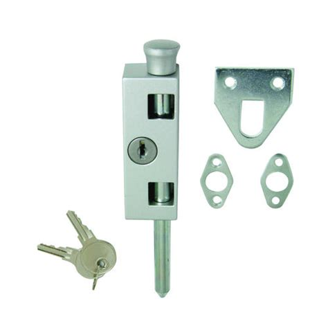 keyed aluminum patio door lock at menards 174
